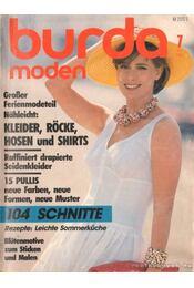 Burda moden 1986./7. Juli (német nyelvű) - Régikönyvek
