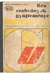 Réz szabványok gyűjteménye - Régikönyvek