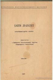 Latin jegyzet - Régikönyvek