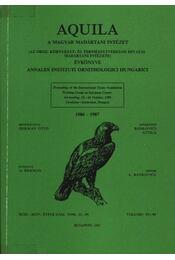 Aquila évkönyv 1986-1987. (93-94) - Herman Ottó - Régikönyvek