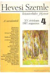 Hevesi Szemle 1987/4 - Régikönyvek