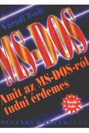 MS-DOS - Váradi Zsolt - Régikönyvek