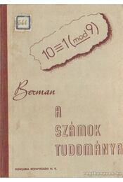 A számok tudománya - Berman - Régikönyvek