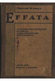 Effata - Molnár Károly - Régikönyvek
