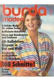 Burda moden 1985./7. Juli (német nyelvű) - Régikönyvek