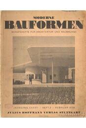 Moderne Bauformen Jahrgang XXXVII. Heft 2. 1938. Februar - Régikönyvek