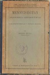 Mennyiségtan - Mérey Gyula - Régikönyvek