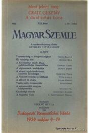 Magyar szemle 1934. XXI. kötet I. szám - Szekfű Gyula - Régikönyvek
