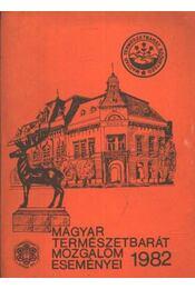 Magyar természetbarát mozgalom eseményei 1982 - Faics Lajos - Régikönyvek