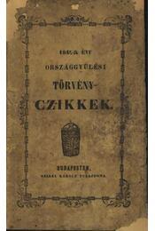 1847-48-ik évi országgyűlési törvényczikkek - Régikönyvek