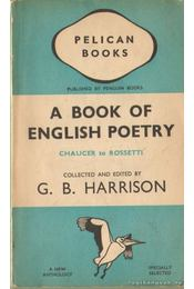 A book of english poetry - Harrison, G. B. - Régikönyvek