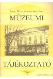 Múzeumi Tájékoztató 1993/4 - Forrai Márta - Régikönyvek