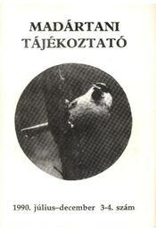 Madártani tájékoztató 1990. július-december 3-4. szám - Régikönyvek