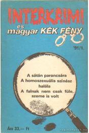 Interkrimi és magyar kék fény - Szabó László - Régikönyvek
