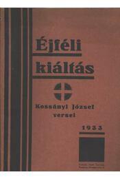 Éjféli kiáltás - Kossányi József - Régikönyvek