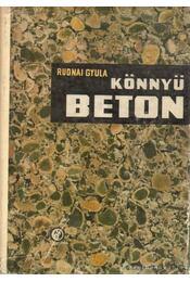 Könnyűbeton - Rudnai Gyula - Régikönyvek