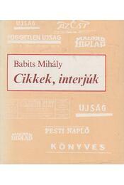 Cikkek, interjúk - Babits Mihály - Régikönyvek