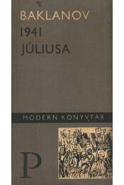 1941 júliusa - Baklanov, Grigorij - Régikönyvek