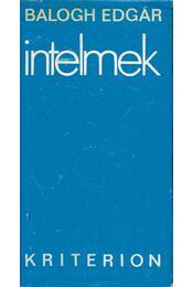 Intelmek - Balogh Edgár - Régikönyvek