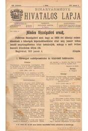 Biharvármegye hivatalos lapja 1910. (teljes) - Balogh János - Régikönyvek