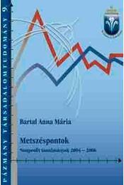 METSZÉSPONTOK NONPROFIT TANULMÁNYOK 2004-2006 - Bartal Anna Mária - Régikönyvek
