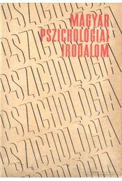 Magyar pszichológiai irodalom - Benedek László - Régikönyvek