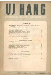 Uj Hang 1952. december 2. szám - Benjámin László - Régikönyvek