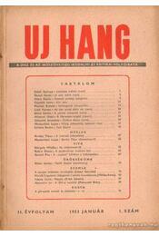 Uj Hang 1953. január 1. szám - Benjámin László - Régikönyvek