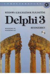 Windows alkalmazások fejlesztése Delphni 3 rendszerben - Benkő Tiborné, Benkő Tibor, Tamás Péter - Régikönyvek