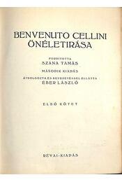 Benvenuto Cellini önéletírása I-II. kötet - Régikönyvek