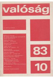 Valóság 1983/10. - Berend T. Iván, Gyurkó László, Huszár István, Huszár Tibor, Kőrösi József, Kurucz Imre, Nyers Rezső, Sárközy Tamás, Simai Mihály, Simon Gyula - Régikönyvek