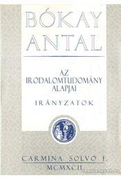 Az irodalomtudomány alapjai - Irányzatok - Bókay Antal - Régikönyvek