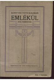 Emlékül - Könyves Tóth Kálmán - Régikönyvek