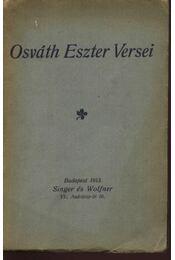 Osváth Eszter versei (dedikált) - Osváth Eszter - Régikönyvek