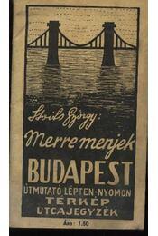 Merre menjek? Budapest - Stoits György - Régikönyvek