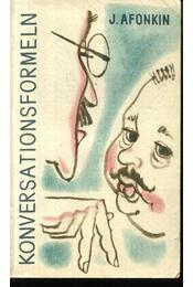Konversationsformeln - Afonkin, J. - Régikönyvek