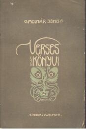 Verses könyv (dedikált) - Molnár Jenő - Régikönyvek