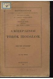 A közép-ázsiai török irodalom - Thúry József - Régikönyvek