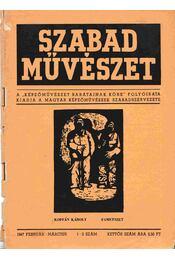 Szabad művészet I. évf. 1-2. szám - Bortnyik Sándor - Régikönyvek