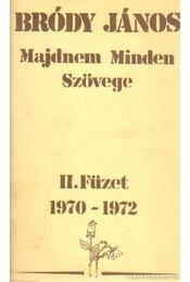 Bródy János Majdnem minden szövege II. füzet 1970-1972 - Bródy János - Régikönyvek