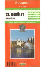 Budapest XI. kerület várostérkép (1:11000) - Régikönyvek