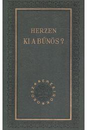 Ki a bűnös? - Herzen - Régikönyvek