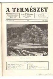 A természet 1936. XXXII. évf. (teljes) - Nadler Herbert - Régikönyvek