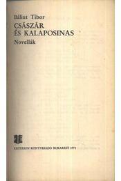 Császár és kalaposinas - Bálint Tibor - Régikönyvek