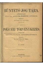 Büntető jog tára, Polgári törvénykezés XLI. kötet (1901. év) - Németh Péter - Dr. Glücklich Emil (szerk.) - Régikönyvek