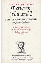 Between You and I: A Little Book of Bad English - COCHRANE, JAMES - Régikönyvek