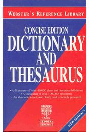 Concise Webster's Dictionary and Thesaurus - Régikönyvek