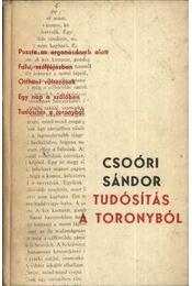 Tudósítás a toronyból - Csoóri Sándor - Régikönyvek