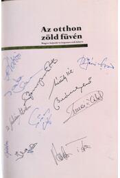 Az otthon zöld füvén (11 futballista által aláírva) - Dénes Tamás, Hegyi Iván, Lakat T. Károly - Régikönyvek