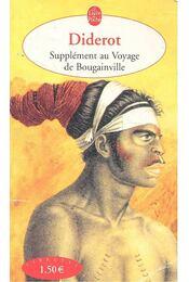 Supplément au voyage de Bougainville - Diderot, Denis - Régikönyvek